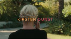 Still image from Matthew Frost's Aspirational ft Kirsten Dunst -  A recent entry into the 2015 Bokeh Mercedes-Benz International South African Fashion Film Festival