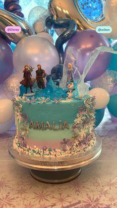 Elsa Birthday Cake, Frozen Themed Birthday Cake, Frozen Theme Cake, Disney Frozen Birthday, Baby Birthday Cakes, 4th Birthday, Birthday Cakes For Girls, Disney Princess Birthday Cakes, Birthday Ideas
