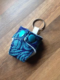 Oscha Roses Blue Ice Mini Cloth Nappy Keyring Diaper Keychain £4