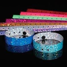 Liquid Glitter Wristbands - Make Prom both safe and trendy with non-transferrable wristbands that look cool and are easily recognized.