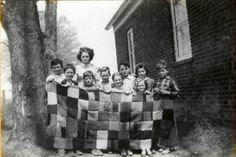 Town of Clifton Park, New York, District School No. 6, The students made the quilt to send to a soldier in World War II.