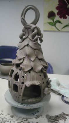 Elf or Fairy House and home unpainted ceramic bisque ready to paint DIY Ceramics Projects, Clay Projects, Clay Crafts, Pottery Designs, Pottery Art, Pottery Ideas, Clay Fairy House, Fairy Houses, Pottery Houses