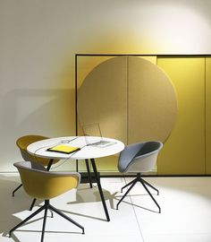 Parentesit freestanding + Duna + new Meety table all by lievore altherr molina for Arper