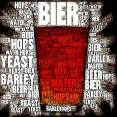 Bier Beer Hops Water Barley Yeast  Poster by UltimateManCave