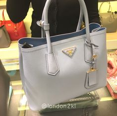 PLACE YOUR ORDER NOW!!We are heading to Bicester Village on Friday 31st March 2017. Prada 1BG755 Baby Blue RM6,000 ❤❤it?  WhatsApp me on +44 7535 715 239 for orders now.  Once it's gone, it's gone!  See even more #L2KLbv #L2KLbv #L2KLbv