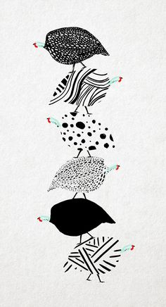 Beautiful guinea fowl design art and design pinterest for Balancing bird template