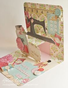 The Dining Room Drawers: Pop It Ups Tilda Birthday Card
