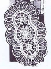 doily oval crochet diagram - Google Search