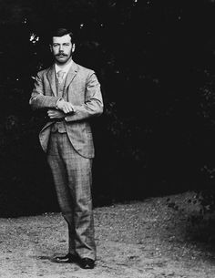 """teatimeatwinterpalace: """" Tsesarevich Nicholas Alexandrovich, in Denmark c. 1892. """" > I think to this to be an odd stance...?: apags"""