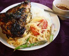 Thai Grilled Chicken (aka Gai Yang) | via The Hungry Girlfriend