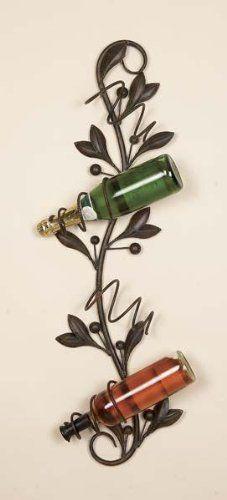 Decorative Metal Wall Mount Wine Rack Bottle Holder