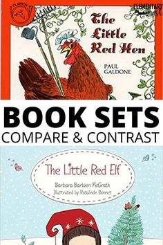 These eight sets of books will help make your Compare and Contrast unit so much more fun and engaging for your students. Check out these recommended book sets for your fiction compare and contrast unit. These book sets make the reading skill fun, clear, and engaging. Fluency Activities, Grammar Activities, Reading Activities, Reading Skills, Teaching Reading, Guided Reading, Little Red Hen, 3rd Grade Reading, Fiction And Nonfiction