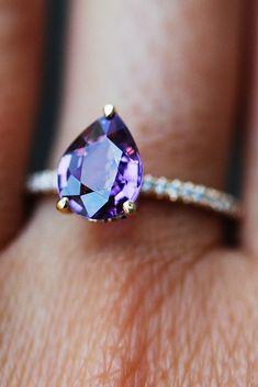 Eidel Precious Sapphire Engagement Rings ❤️ Eidel Precious engagement rings solitaire pear cut pave band ❤️ See more: http://www.weddingforward.com/eidel-precious-engagement-rings/ #weddingforward #wedding #bride