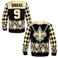 NFL Drew Brees New Orleans Saints Ugly Sweater