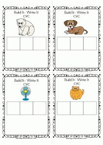 FREE Build-It Write-It cards for building CVC and CVCC/CCVC words.  Step-by-step directions for assembly on my blog