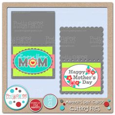 Pretty Paper, Pretty Ribbons Mothers Day Cards Cutting Files