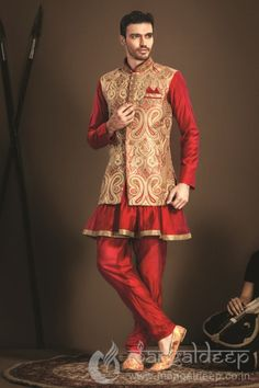 Red Imported Fabric Stylish Jodhpuri Suit. For more information :- Call us @+919377222211 (Whatsapp Available)