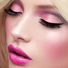 Pink.... Barbie doll like makeup