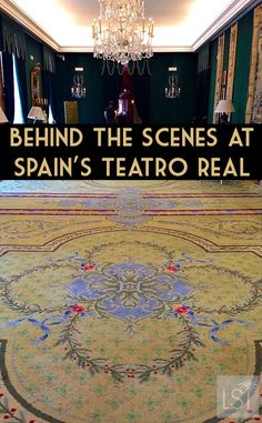Behind the scenes at the Teatro Real - Madrid's main theatre and opera house. It runs a number of tours and is one of the great cultural things to do in Madrid.