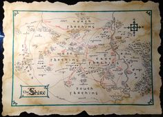 Map of The Shire by qzkills on DeviantArt