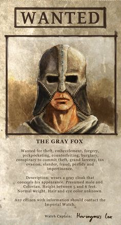 Wanted The Gray Fox by Futurodox on deviantART