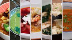 LAS 8 SOPAS MÁS FAMOSAS DEL MUNDO Spanish Cuisine, Caprese Salad, Healthy Recipes, Healthy Food, Sushi, Sandwiches, Baking, Ethnic Recipes, Soups