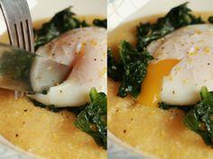 The Violet — Recipe: Poached Egg over Lemony Kale and Polenta