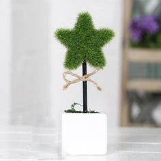 7''Artific​ial Fake Plant Tree Potted Plant Yard Home Office Desktop Decor Ficus