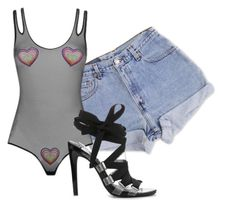 """""""Untitled #9"""" by nelah-boo ❤ liked on Polyvore featuring Levi's and Agent Provocateur"""