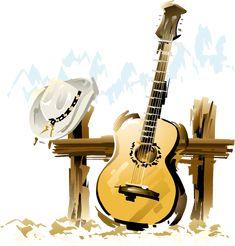 Render guitare chapeau country music - Instruments - Musiques