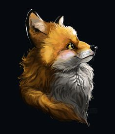 A fluffy red fox character illustration - by Alida Loubser (Artwork medium: Digital painting in Adobe Photoshop, Wacom Intuos tablet) Fox Character, Wacom Intuos, Red Fox, Character Illustration, Photo And Video, Digital, Adobe Photoshop, Artwork, Painting