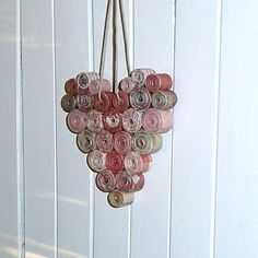 Recycled Paper Heart Shades of Red and Pink by BlueTangDesigns, $12.00