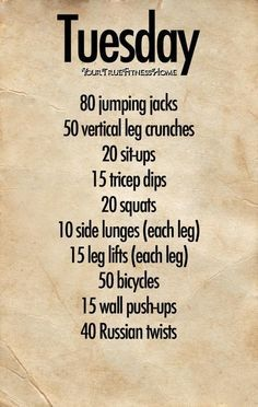 workout ideas at home - Google Search