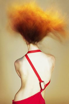 ...... Her hair was on fire like the paint in Turner's Temeraire