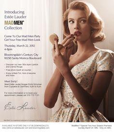 Estee Lauder Mad Men style ad in Newsweek Makeup Tips, Beauty Makeup, Hair Makeup, Mad Men Party, National Lipstick Day, Betty Draper, Estee Lauder, Men Looks