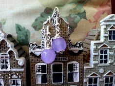 Lavender earrings by Soulmateinspiration on Etsy, $9.75