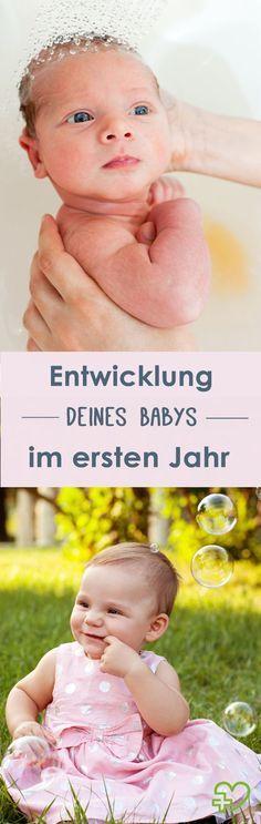 So entwickelt sich dein Baby im 1. Lebensjahr. (Bildquelle: istock)