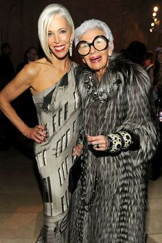 Silver foxes: Linda Fargo and Iris Apfel