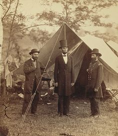 Lincoln on Battlefield of Antietam, Maryland by Alexander Gardner