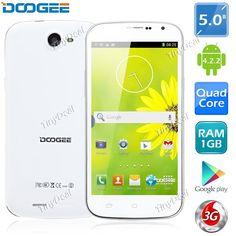 "(DOOGEE) DISCOVERY DG500 5.0"" IPS MTK6582 Android 4.2.2 4-Core 8MP Phone 1GB RAM 4GB ROM OTG Wireless Display P07-DG500"