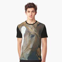'Horse' Graphic T-Shirt by MyGrandpa Tank Man, My Arts, Horses, Art Prints, Printed, Awesome, Mens Tops, Photos, T Shirt