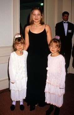 Candace Cameron-Bure with the Olsen twins