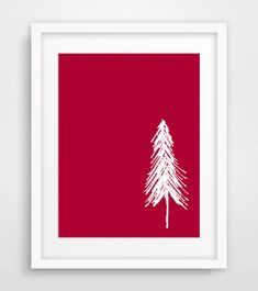 Printable Christmas Tree Art Print Minimalist by Designsbyritz