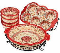 Temp-tations Old World 8-piece Ceramic Baking Set