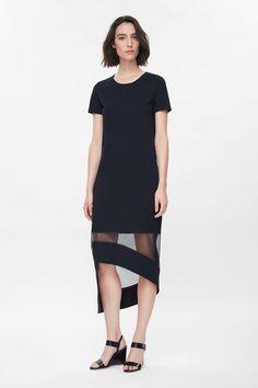 Sheer-hem dress