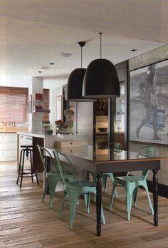 Obra Campos Bicudo 61 - Sala de Jantar integrada a cozinha e adega. foto: Revista Arquitetura e Cosntrução