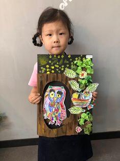 부엉이[ 크라인 6세 수업 / 시흥시 정왕동 배곧 미술학원 - 창의미술 크리아트] : 네이버 블로그 Fall Art Projects, School Art Projects, Art School, Autumn Painting, Autumn Art, Art For Kids, Crafts For Kids, Arts And Crafts, 2nd Grade Art