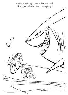billedresultat for finding nemo coloring pages clip art pinterest finding nemo and clip art - Finding Nemo Coloring Pages Bruce
