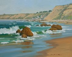 Sunny Shores by Greg LaRock Oil ~ 16 x 20