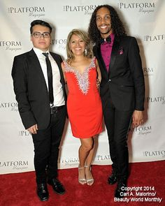 Photo Credit Beauty World Monthly www.theplatformmagazine.com New York City Times Square  The Platform Magazine VIP event  Ferret Campos NYC Fashion Designer  Dr. Judy Staveley CEO / Founder The platform Magazine Dr. Kevin Wade